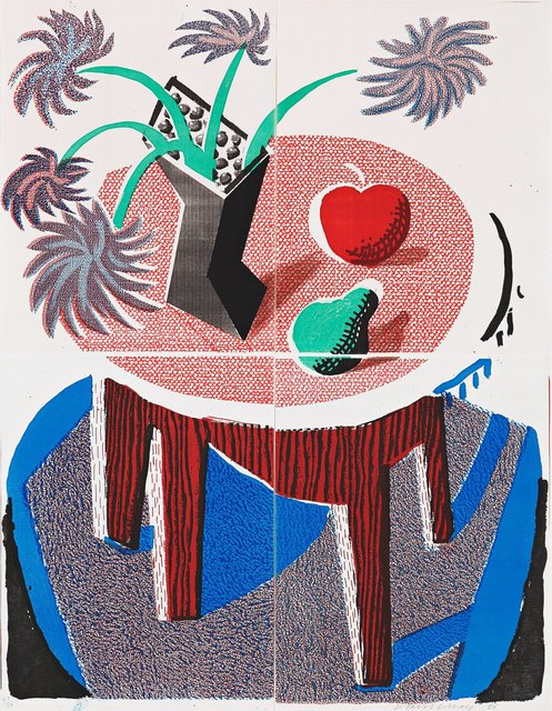 David Hockney, 'Flowers, Apple & Pear on a Table, July 1986', 1986, RAW Editions