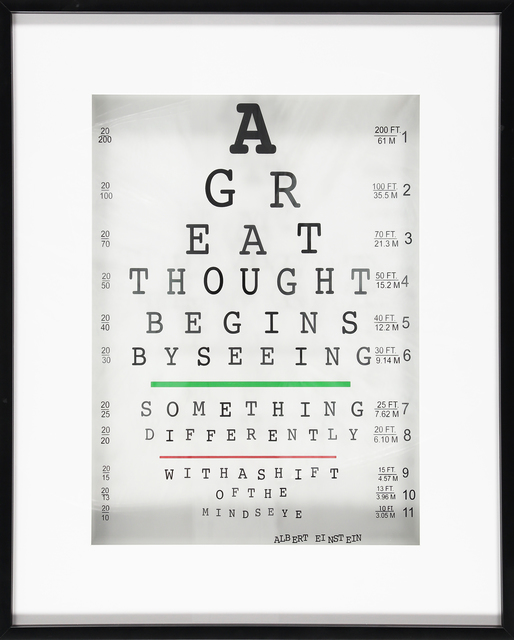 , 'A Great Thought Begins...(Einstein),' 2017, TAG Fine Arts