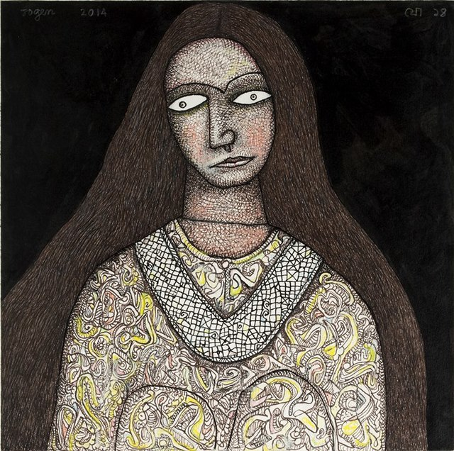 , 'Women with Silver Necklace,' 2014, Sanchit Art