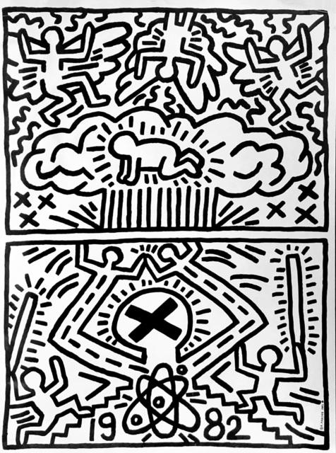 Keith Haring, 'Keith Haring 1982 poster for Nuclear Disarmament (Keith Haring prints)', 1982, Lot 180