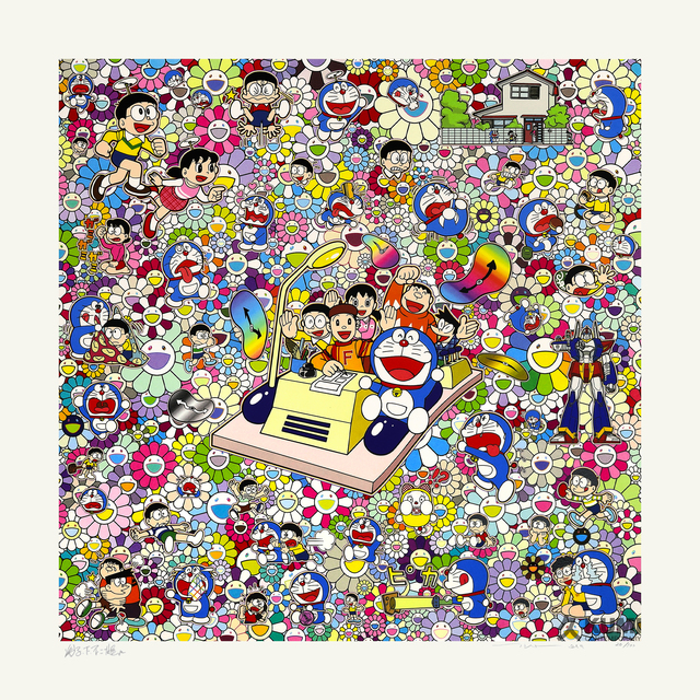 Takashi Murakami, 'On an Endless Journey on a Time Machine with the Author Fujiko F. Fujio!', 2019, Kumi Contemporary / Verso Contemporary