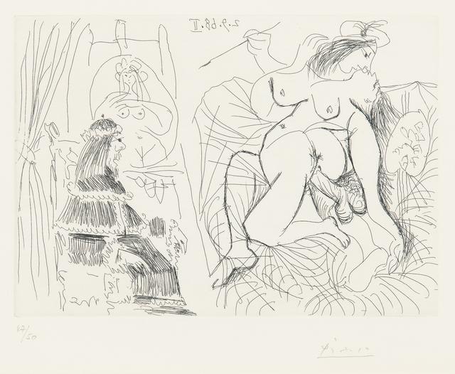 Pablo Picasso, 'Raphaël et la Fornarina XI: Le Pape est bouche bée dans son fauteuil', 1968, Skinner