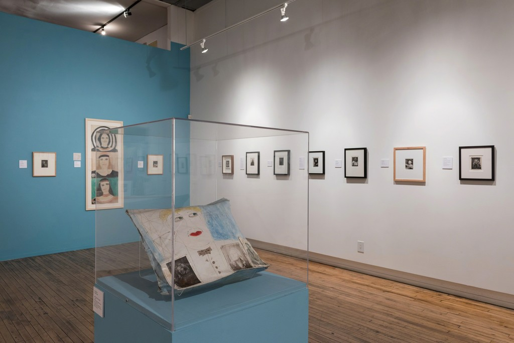 "Installation view of ""Lee Godie: Self-Portraits"" at Intuit, Chicago (2016). Photo credit: Cheri Eisenberg"