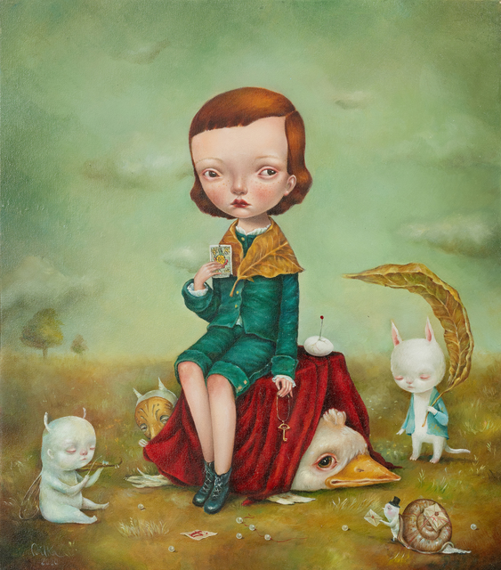 Dilka Bear, 'The Messenger', 2020, Painting, Oil on wood, Fousion Gallery