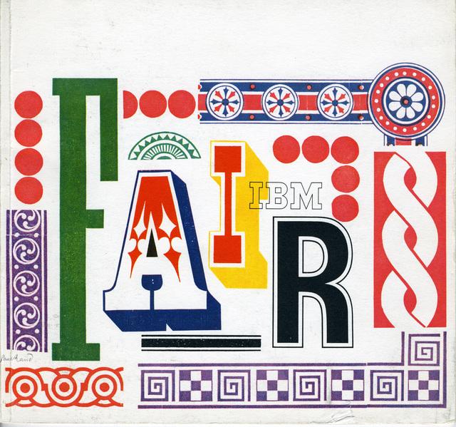 , 'Paul Rand, World's Fair IBM Booklet,' 1964, New York Historical Society