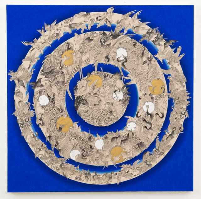 Pema Rinzin, 'Bird Mandala (Blue)', 2016, Joshua Liner Gallery
