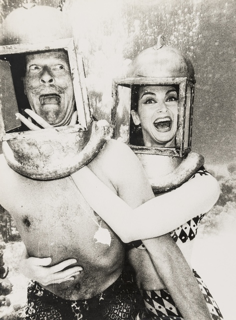 Norman Parkinson, 'Parks and Carmen in Diving Helmets; Parks and Annie at Seaside Photo Booth', 1959 & 1962, Forum Auctions