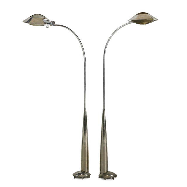 Cedric Hartman, 'Two adjustable floor/reading lamps, Omaha, NE', Rago