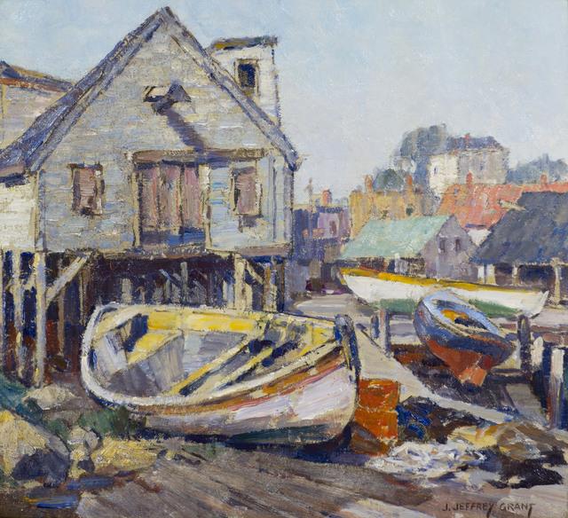 James J. Grant, 'Along the Wharf, Cape Ann', 19th -20th Century, Vose Galleries