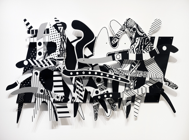 , 'Rhapsody in Black and White,' 2008, Library Street Collective