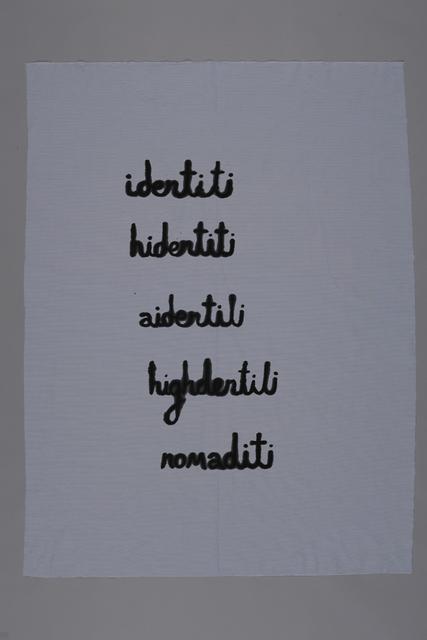 , 'Identiti,' 2015, Jérôme Poggi