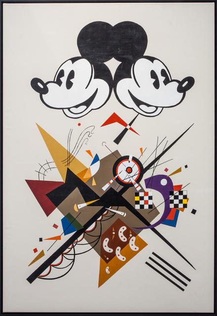 Alexander Kosolapov, 'Mickey Kandinsky', 2015, Painting, Acrylic on canvas, Galerie Sébastien Bertrand