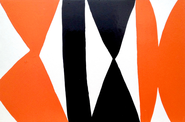 , 'Enamel Panel #3 (white, orange, black),' 2004, Rosamund Felsen Gallery
