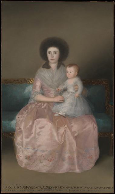 Francisco de Goya, 'Condesa de Altamira and Her Daughter, María Agustina', 1787–1788, The Metropolitan Museum of Art