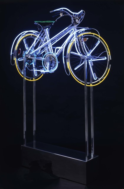 Robert Rauschenberg, 'Bicycloid II', 1992, Bicycle with neon and aluminum base, Robert Rauschenberg Foundation