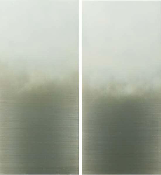 , 'White Fog diptych,' 2015, Sundaram Tagore Gallery