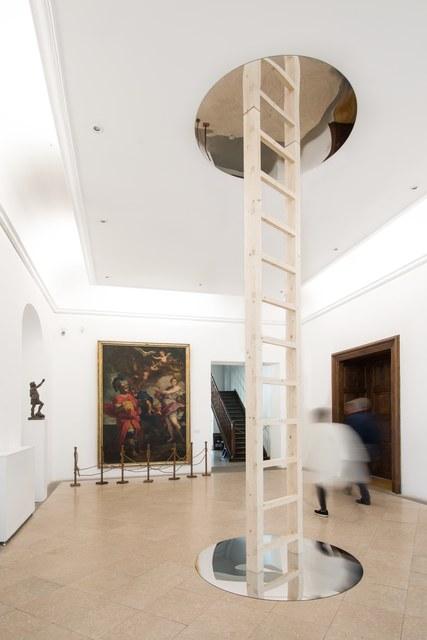 GABRIELA VANGA, 'Mirare', 2015, Installation, Wood ladder, 2 mirrors, Art Encounters Foundation