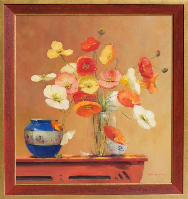 Jacqueline Fowler, ''Poppies with Blue planter'', 2014, Wentworth Galleries