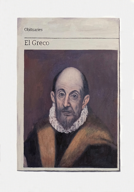 , 'Obituary: El Greco,' 2018, Charlie Smith London