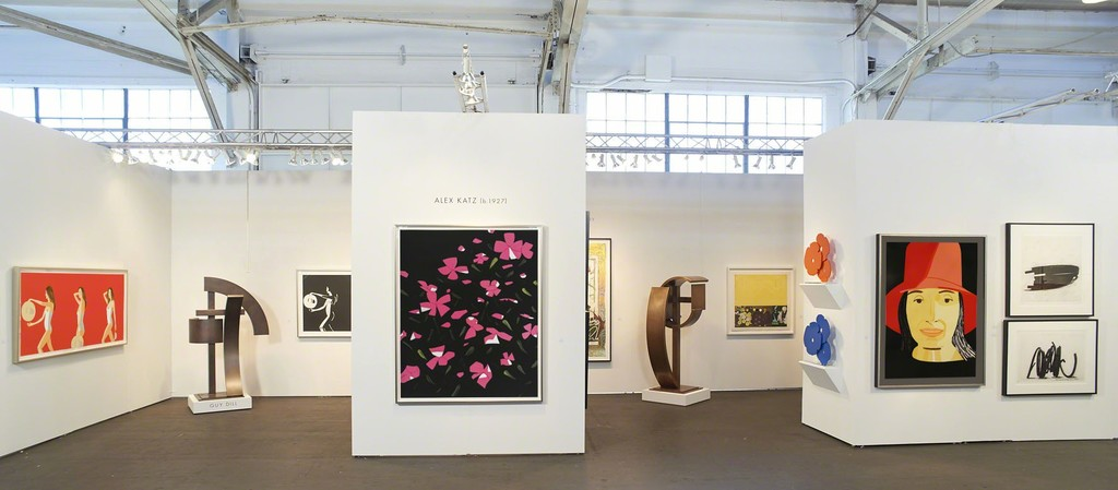 works by Alex Katz, Guy Dill, Frank Stella, John Baldessari, Donald Sultan and Bernar Venet