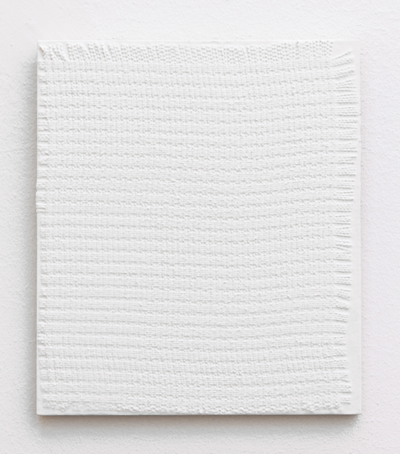 Michelle Grabner, 'Untitled', 2011, Painting, Gesso and Fabric on Wood, Galerie Gisela Clement