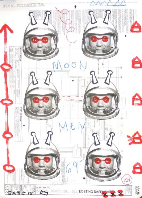 Gary John, 'Moon Men '69', 2018, Painting, Mixed Media, Acrylic on Architectural Paper, Artspace Warehouse