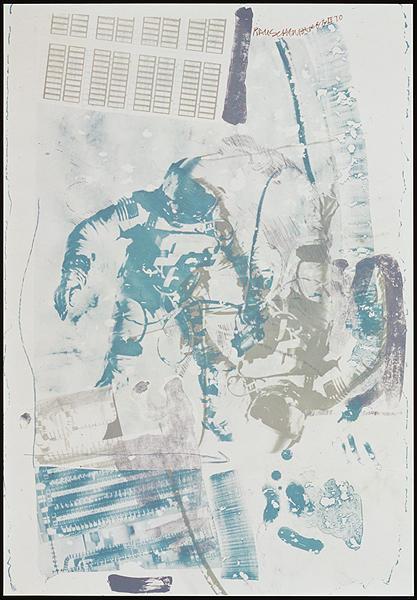 Robert Rauschenberg, 'White Walk, from Stoned Moon', 1970, Print, Lithograph, Gregg Shienbaum Fine Art