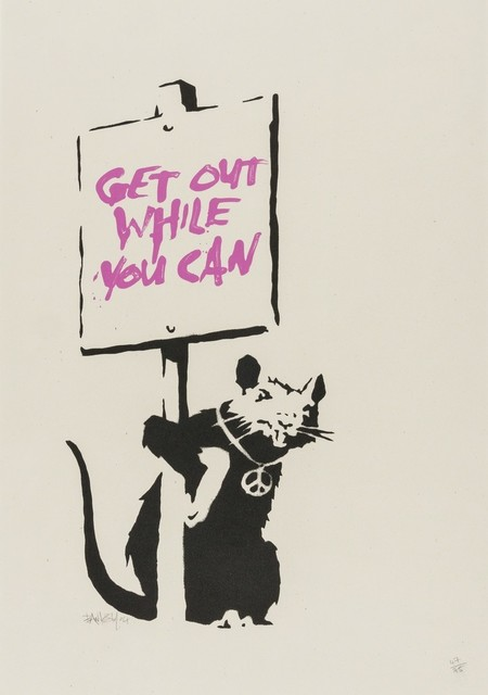 Banksy, 'Get out while you can', 2004, Kunzt Gallery
