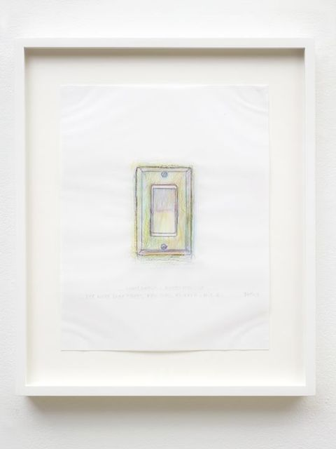 Do Ho Suh, 'Rubbing/Loving Project: Light Switch, Apartment A, 348 West 22nd Street, New York, NY 10011, USA', 2014, Lehmann Maupin