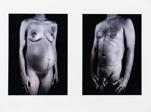 Chuck Close, 'Untitled Diptych from the Portfolio Doctors of the World', 2001, Skinner