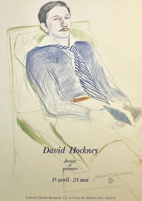 David Hockney, 'Signed & Numbered David Hockney Dessins et Gravures Poster', 1975, Mr & Mrs Clark's
