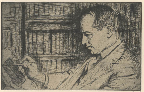 , 'An Etcher, Morris Greenberg or Morris Greenberg,' 1921, Childs Gallery