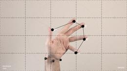 , 'Ejercicios de medición sobre el movimiento amanerado de las manos,' 2014, Espacio Mínimo