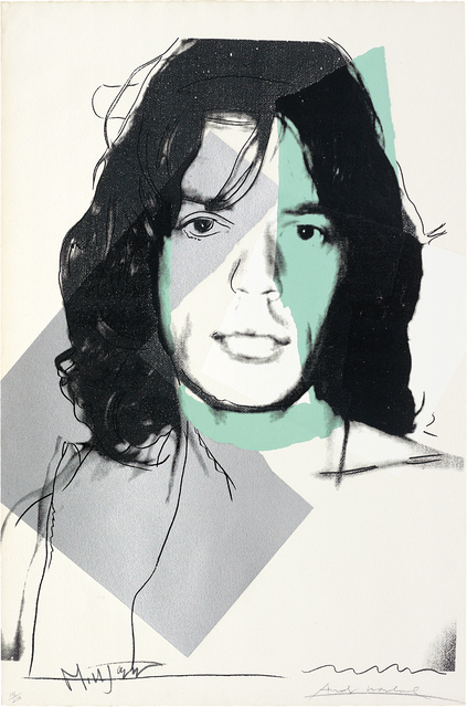 Andy Warhol, 'Mick Jagger', 1975, Print, Screenprint in colours, on Arches Aquarelle (Rough) paper, the full sheet., Phillips