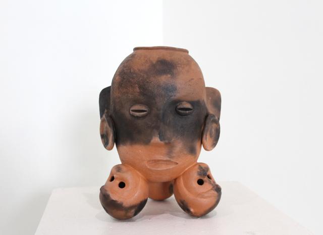 John Donovan, 'TriPod Head Vessel 1', 2017, Sculpture, Pit-fired terracotta, LeMieux Galleries