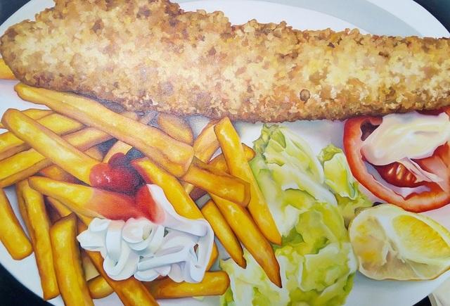 , 'fish and chips,' 2018, Galerie Bene Taschen