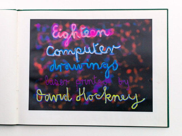 David Hockney, '18 Computer Drawings Laser printed', 1991, Print, Computer drawings laser printed, Goldmark Gallery