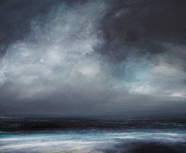 Ruth Brownlee, 'January Sky Clearing, Quendale', 2019, Painting, Mixed Media on Board, Tatha Gallery
