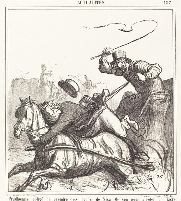 Honoré Daumier, 'Prudhomme obligé de prendre des leçons...', 1867, National Gallery of Art, Washington, D.C.