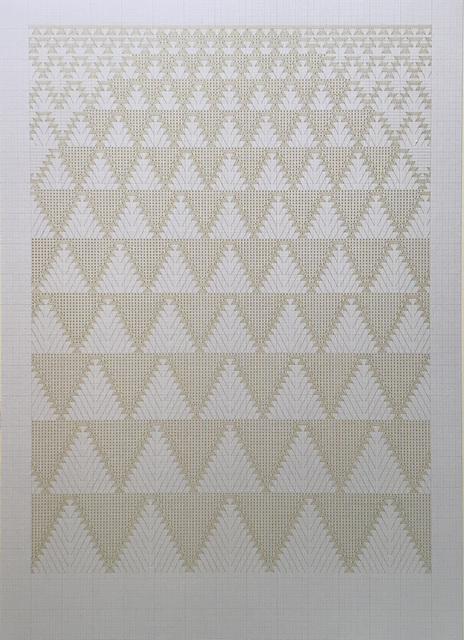 Toni Davey, 'Morocco 2', 2019, Drawing, Collage or other Work on Paper, Gold ink drawing on paper, Beardsmore Gallery