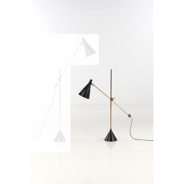 Tapio Wirkkala, 'Model K10-11, Floor lamp', 1960, Design/Decorative Art, Laiton et métal laqué, PIASA