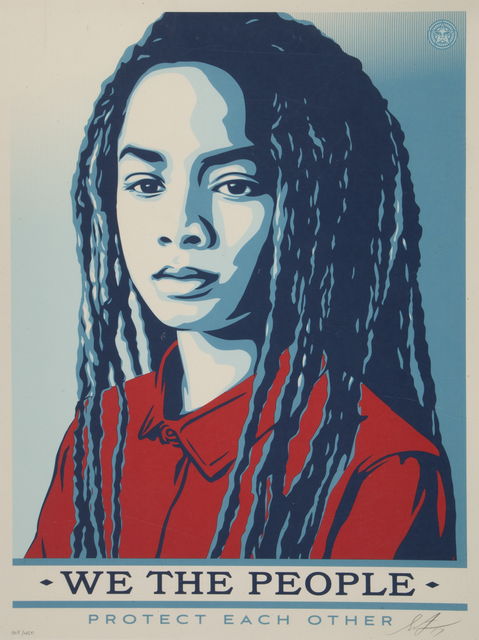 Shepard Fairey (OBEY), 'Protect Each Other (from We The People series)', 2017, Julien's Auctions