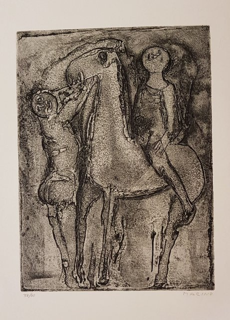 Marino Marini, 'Giochi dal fondo', 1971, Wallector