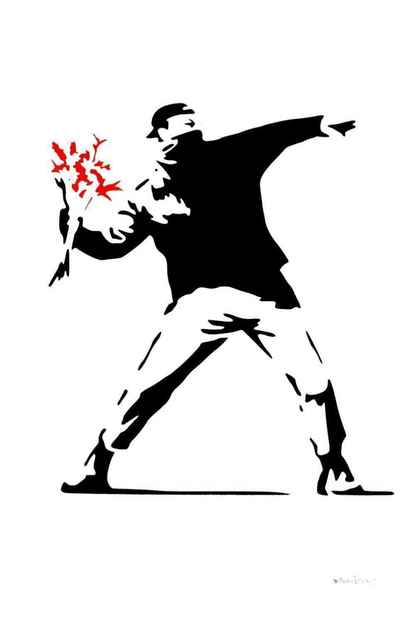 Banksy, '(After Banksy) Flower Thrower-Red', 2016, Leviton Fine Art