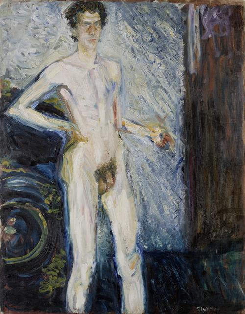 , 'Nude Self-Portrait with Palette,' 1908, The National Gallery, London