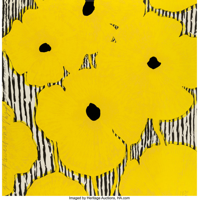 Donald Sultan, 'Yellow Flowers on a stripped ground', 2002, Heritage Auctions