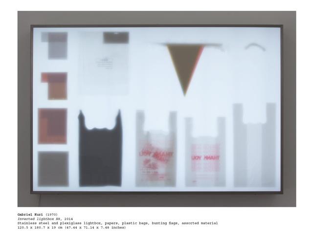 , 'Inverted Lightbox H8,' 2014, kurimanzutto