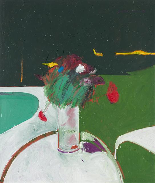 , 'Flowers by the Pool,' 1980, Larsen Gallery