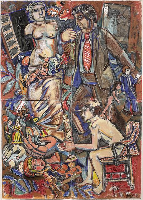 """Viola Frey, '""""Untitled (Greek Hag, Brown Suited Man)"""" ', 1990, James Harris Gallery"""
