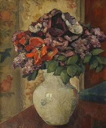 Flowers in a vase on a table